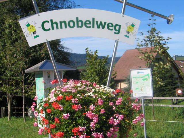 Chnobelweg Tafel