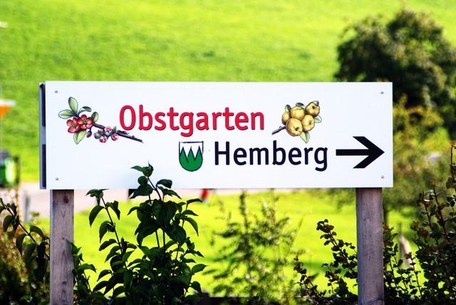 Obstgarten Hemberg Tafel
